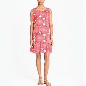 Jcrew Flutter Sleeve Dress Sunburst Red Ruffle